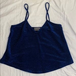 Urban Outfitters Sparkle Blue Tank